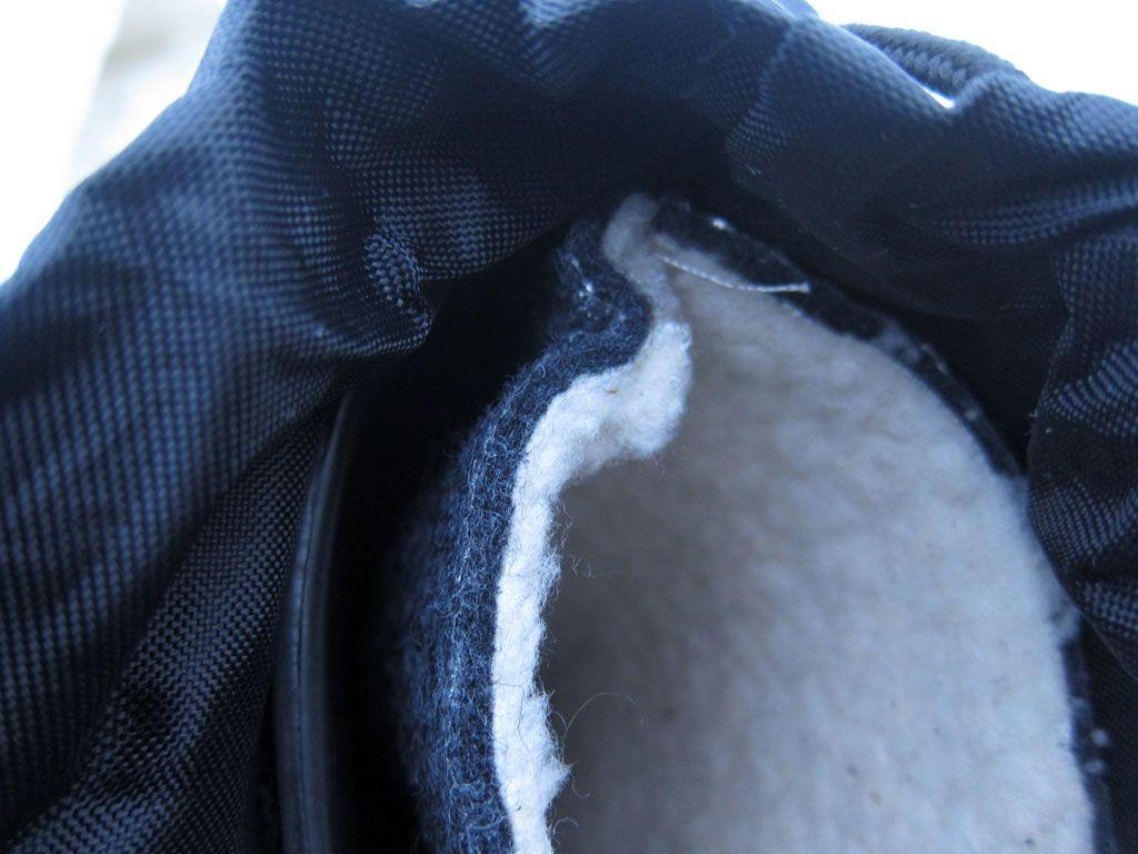 Термовкладыши сапог состоят из внутреннего флисового слоя, среднего изоляци